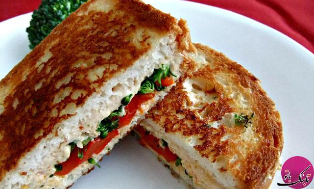 ساندویچ پنیر و بروکلی، ساده و لذیذ