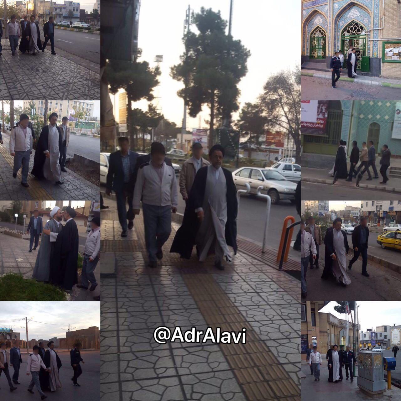 پیاده روی وزیر اطلاعات در سمنان + عکس