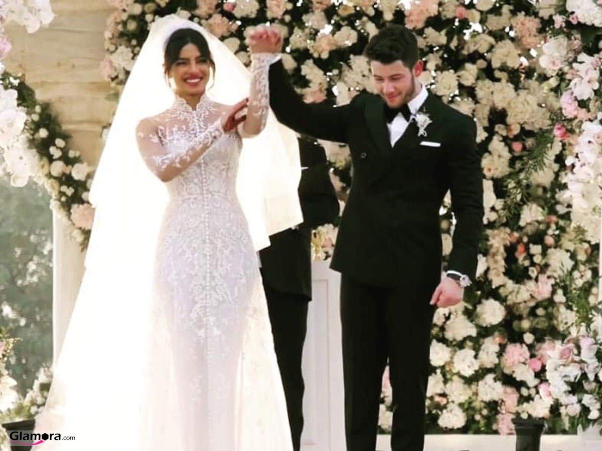 لباس عروس فاخر پریانکا چوپرا در مراسم ازدواجش