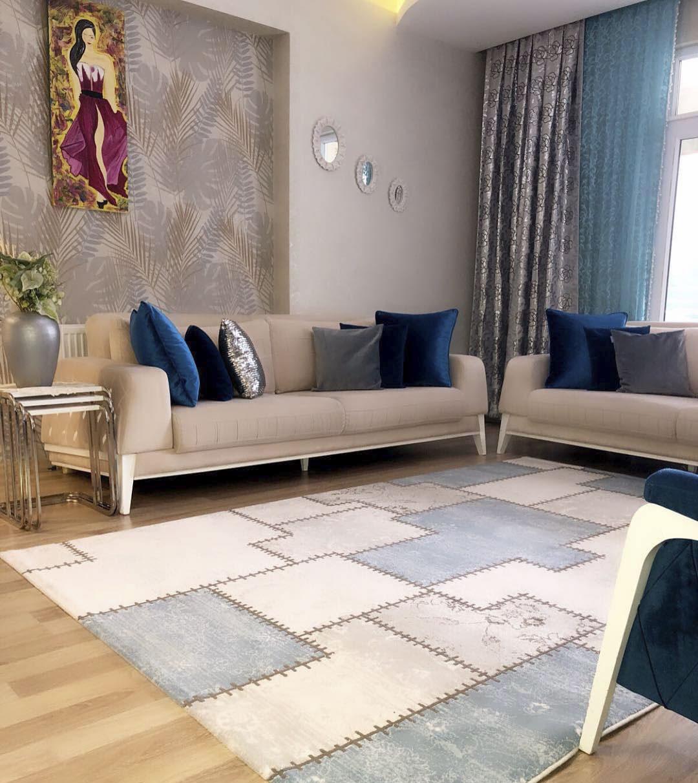 ست کردن رنگ مبل با فرش یا پرده، کدام بهتر است؟!