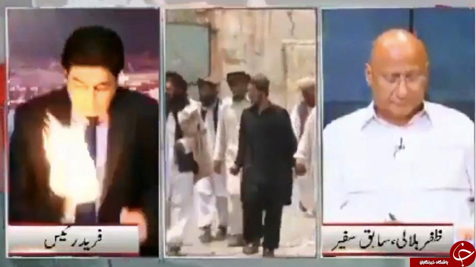 حمله به گوینده خبر حین گفتگوی زنده تلویزیونی+عکس