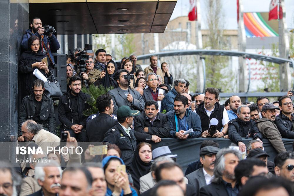 گزارش تصویری مراسم تشییع پیکر جمشید مشایخی