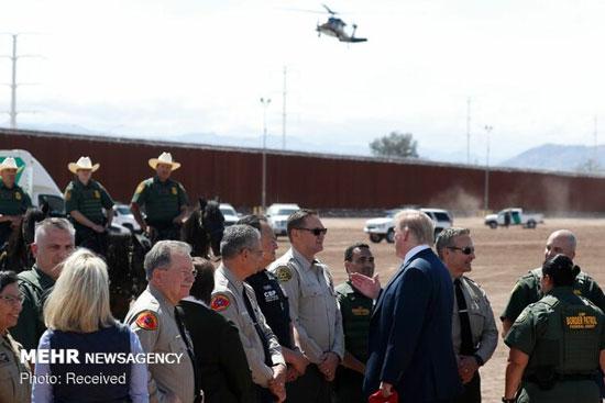 بازدید ترامپ از دیوار مرزی آمریکا و مکزیک +عکس