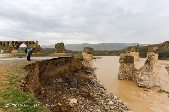 پل تخریب شده کشکانرود +عکس