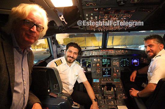 حضور شفر در کاکپیت خلبان +عکس
