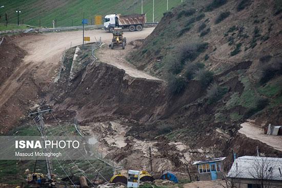 رانش زمین در روستای حسین آباد کالپوش +عکس