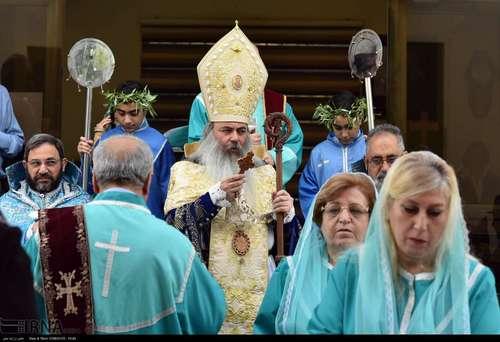 مراسم یکشنبه نخل در کلیسای گریگور تهران