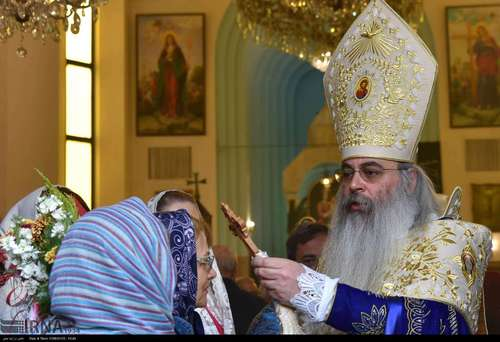 مراسم «یکشنبه نخل» در کلیسای گریگور مقدس تهران