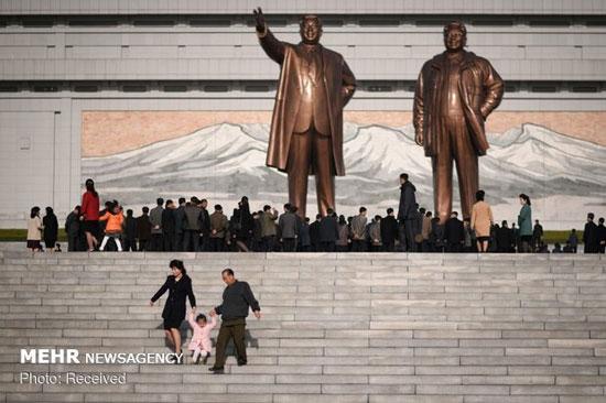 روز خورشید در کره شمالی +عکس