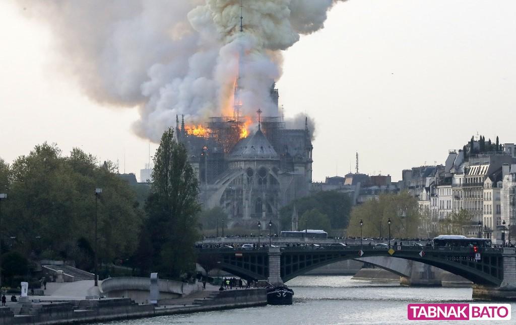حیرت و اندوه فرانسویان پس از سوختن نوتردام