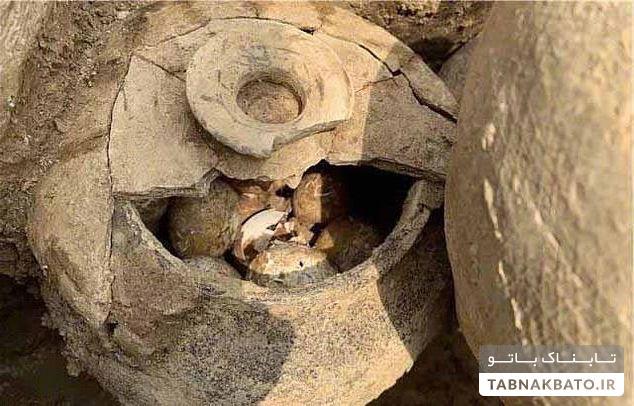کشف تخم مرغ هایی ۲۵۰۰ ساله در چین