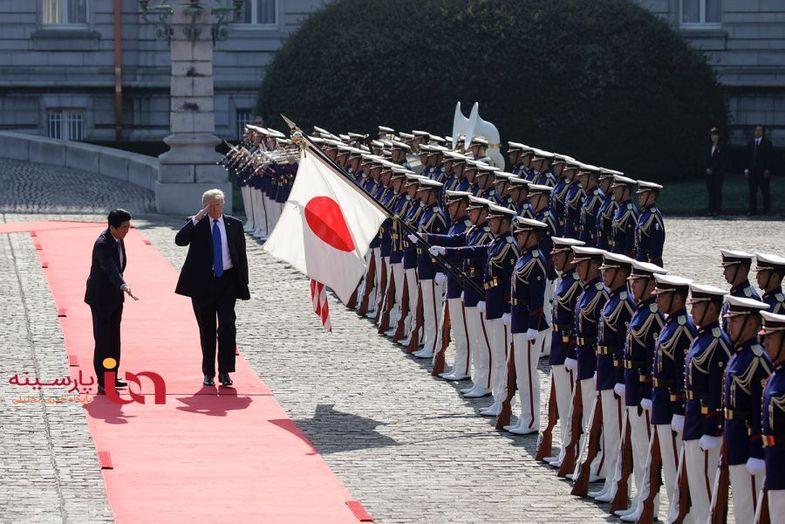 استقبال متفاوت ژاپن از ترامپ و روحانی+عکس