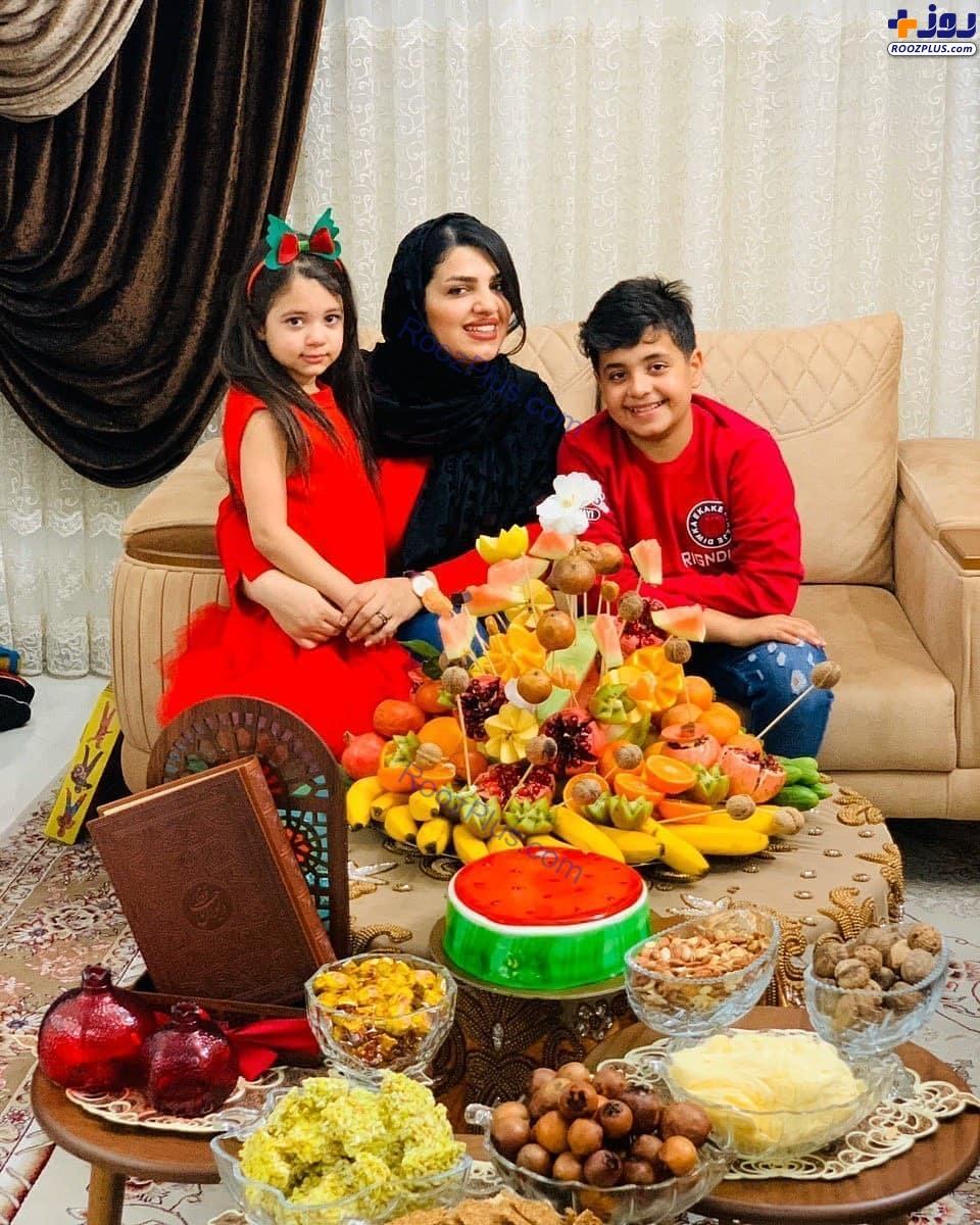 همسر و فرزندان مرحوم هادی نوروزی در شب یلدا+عکس