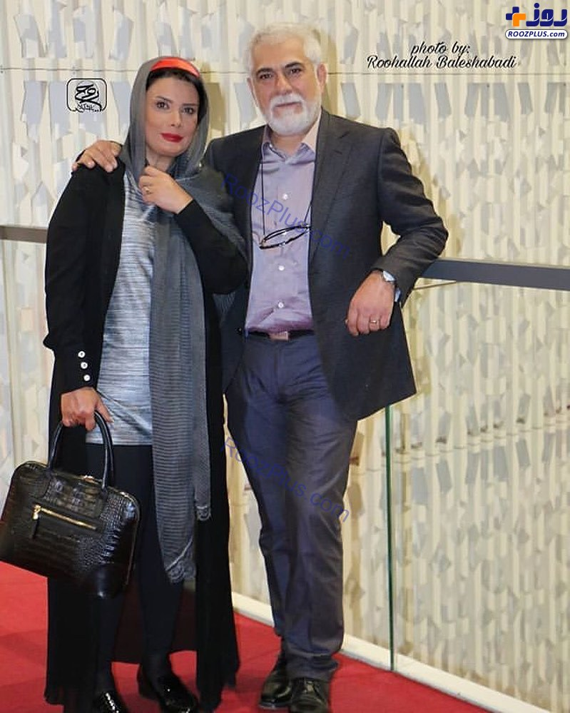 تیپ رسمی حسین پاکدل و همسرش؛عاطفه رضوی+عکس