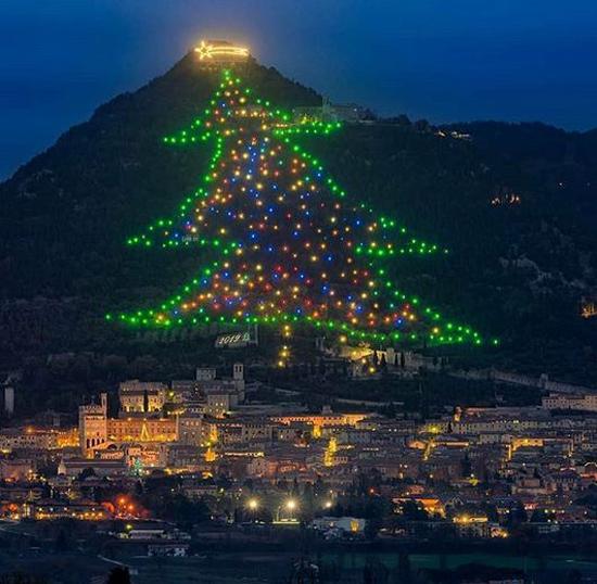 بزرگترین درخت کریسمس جهان در ایتالیا+عکس
