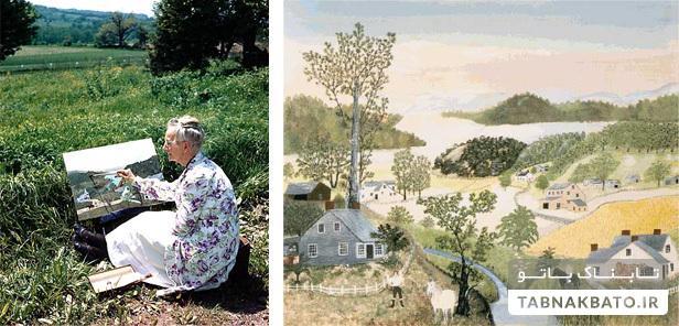 شکوفایی استعداد نقاشی مادربزرگ در هشتادسالگی