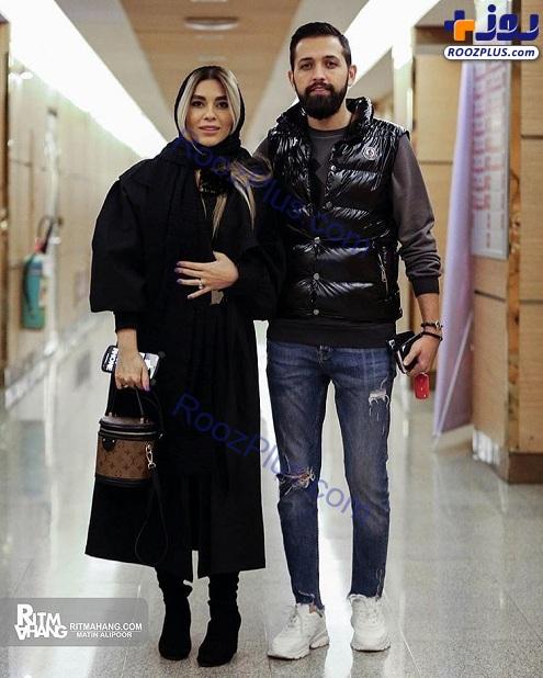 محسن افشانی و همسرش بعد از آزادی از زندان در کنسرت+عکس