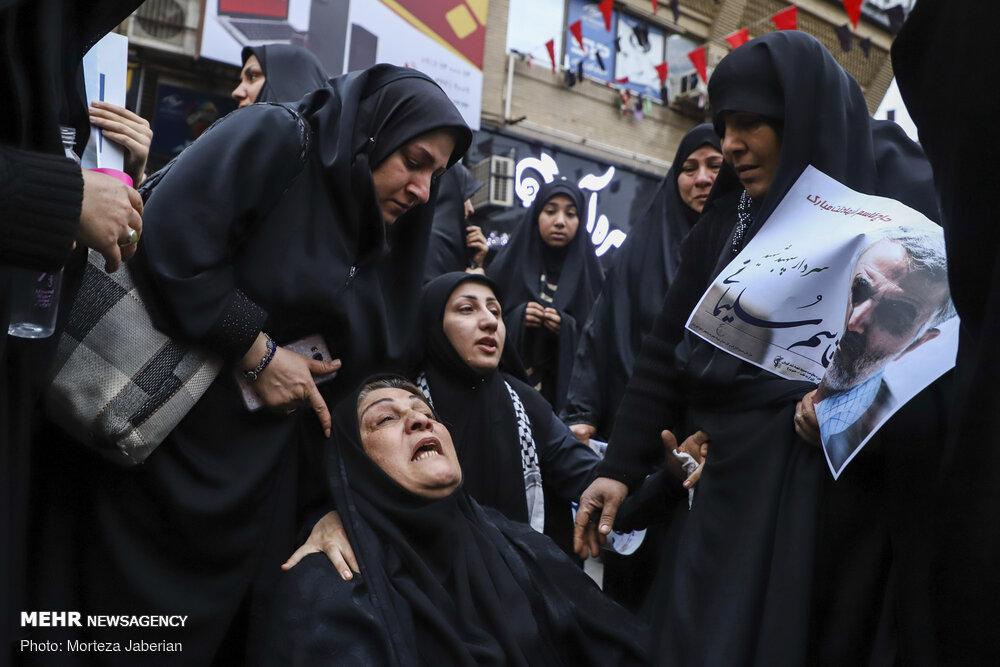 حال بد هموطن اهوازی در عزاداری شهادت سپهبد سلیمانی + عکس
