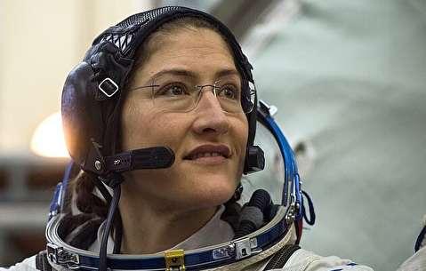 رکورد حضور یک زن در فضا شکسته شد