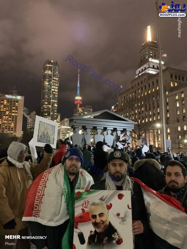 بزرگداشت شهید سپهبد سلیمانی در کانادا+تصاویر