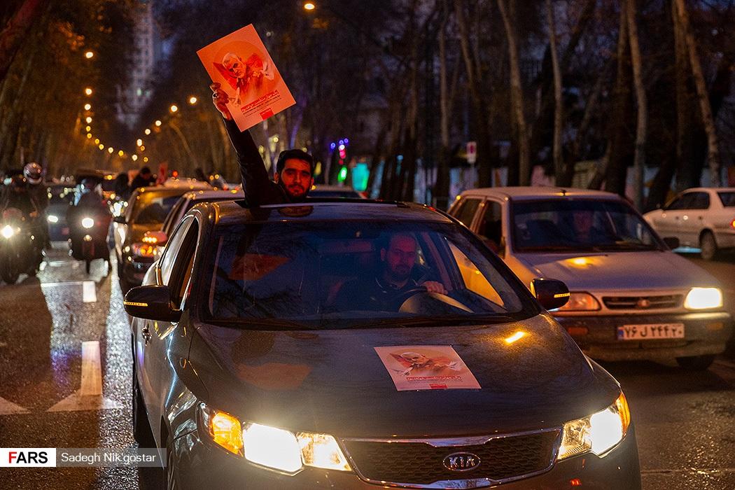 رژه ماشین های لاکچری در خیابان های تهران برای «حاج قاسم» + عکس