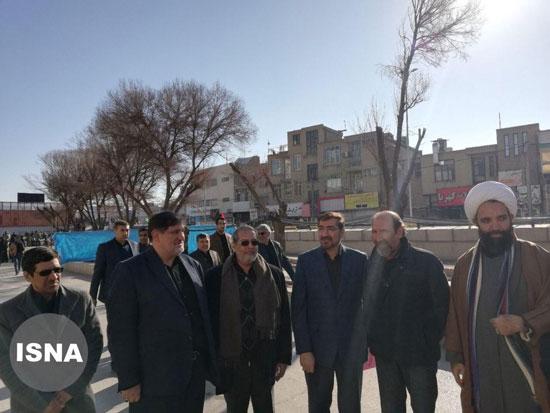 کارگردان «مختار» در مراسم تشییع پیکر سردار+عکس