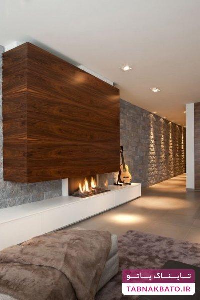 فضایی گرم و مدرن با شومینههای متفاوت