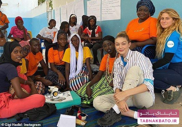دیدار مدل معروف آمریکایی با دختران الهامبخش آفریقا