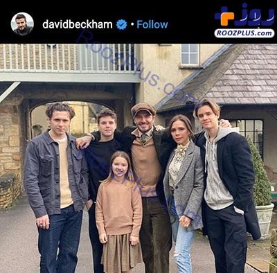 عکس خانوادگی دیوید بکهام