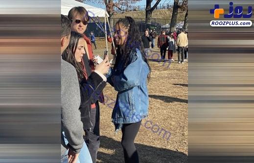 گردش دختر اوباما در کنار دوست ثروتمندش بدون بادیگارد +تصاویر