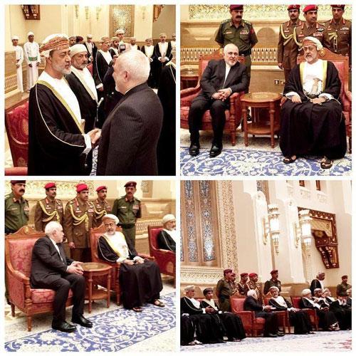 دیدار ظریف با پادشاه جدید عمان +عکس