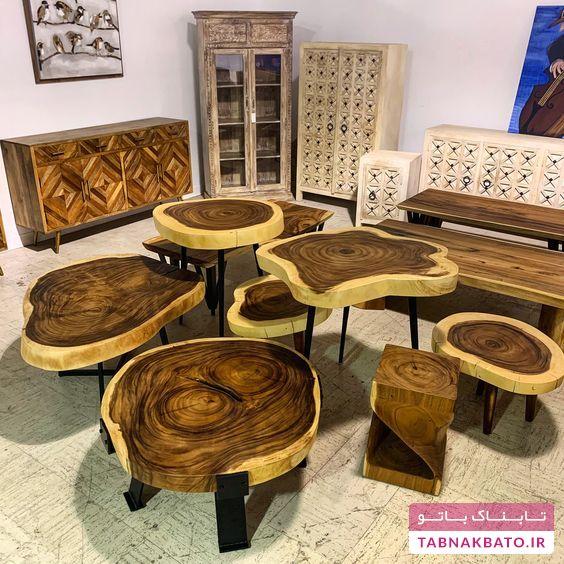 طراحیهای زیبا و جالب میز با الهام از درختان