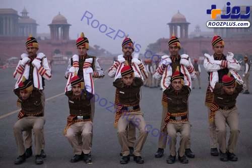 تصویری جالب از تمرینات آمادگی نیروی پلیس هند