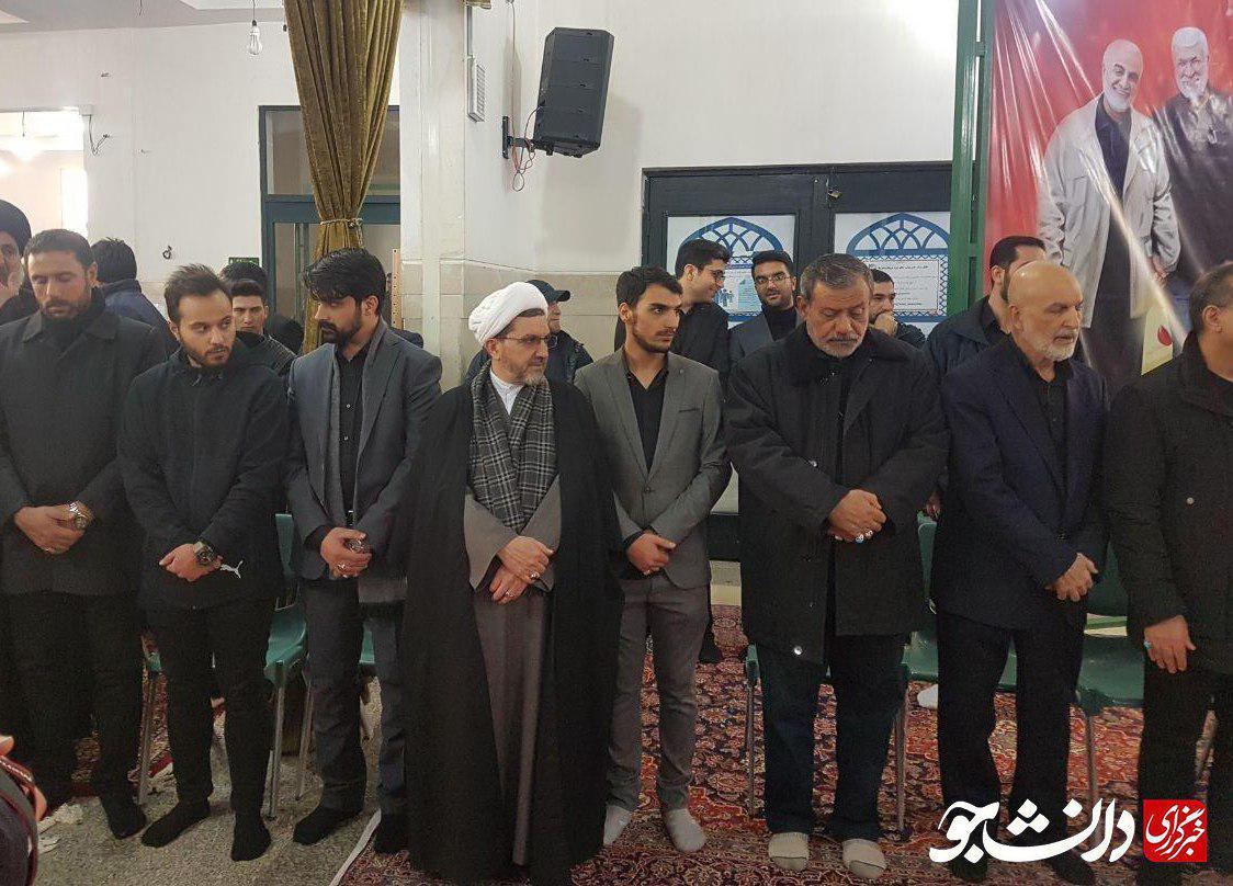 فرزند شهید حاج قاسم سلیمانی در کنار داماد شهید ابومهدی المهندس + عکس