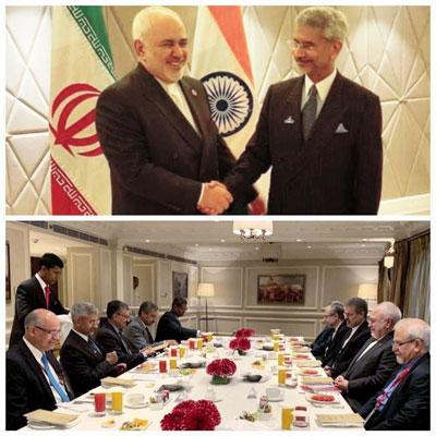صبحانه کاری وزیران خارجه ایران و هند+عکس