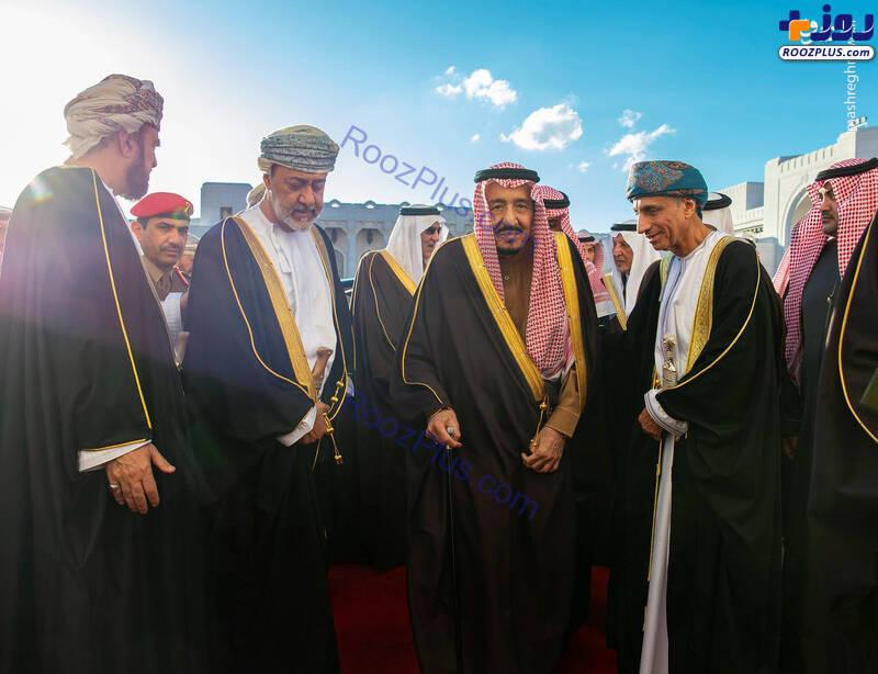دیدار ملک سلمان با پادشاه جدید عمان +عکس