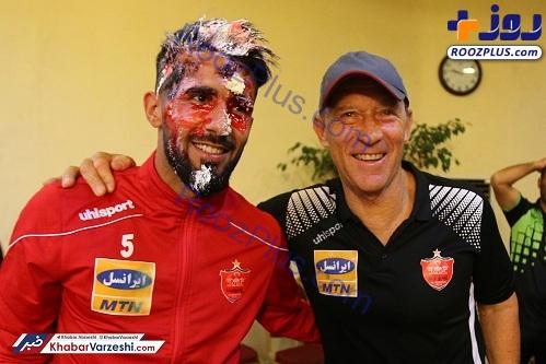 جشن تولد بشار رسن در اردوی پرسپولیس+تصاویر
