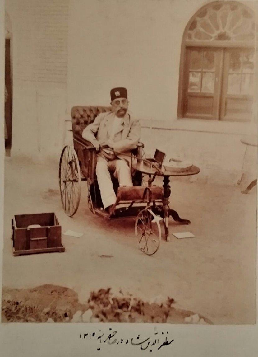 میز و صندلی عجیب مظفرالدین شاه قاجار+عکس