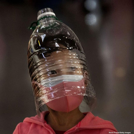 روش فرار کودکان چینی از ویروس کشنده کرونا +عکس