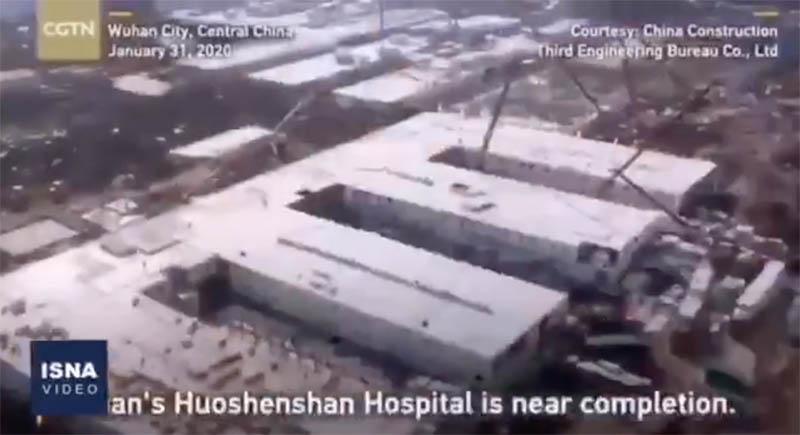 پیشرفت حیرتانگیز ساخت بیمارستان در چین برای مقابله با کرونا + عکس
