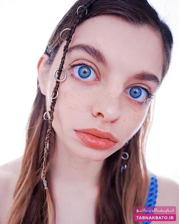 چشمان درشت آبی، سوژه جدید فضای مجازی!