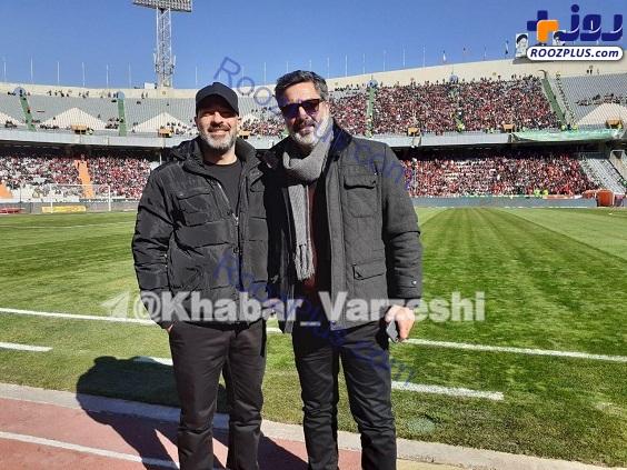 حمید رضا پگاه در ورزشگاه آزادی +عکس