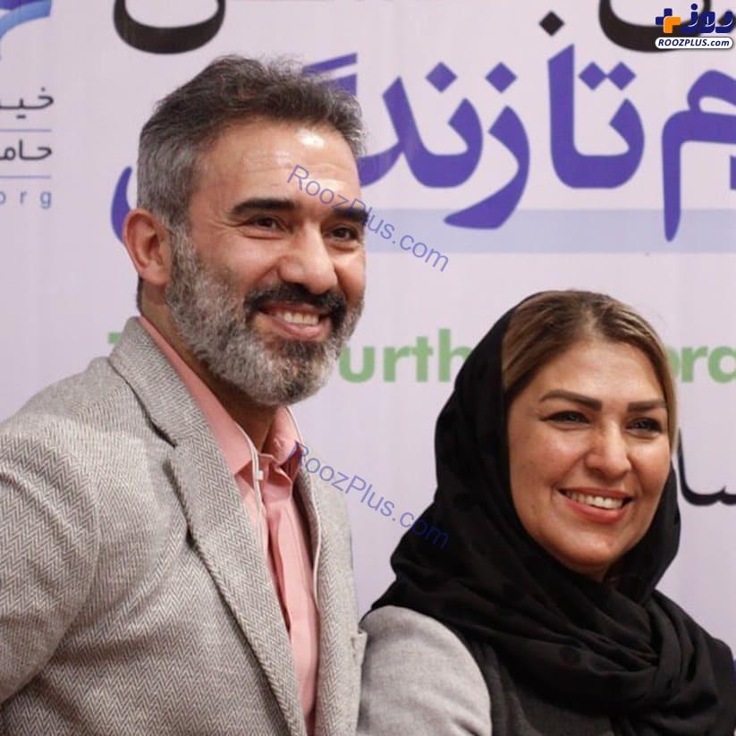 عکس جدید احمدرضا عابدزاده در کنار همسرش