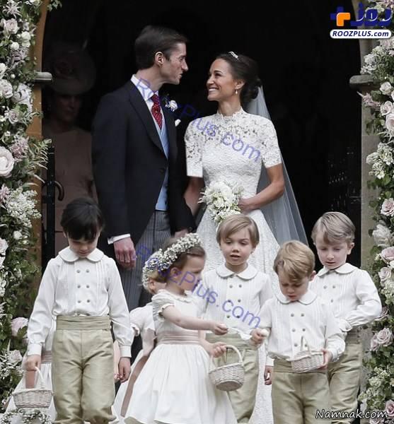 کیت میدلتون در مراسم عروسی خواهرش+عکس