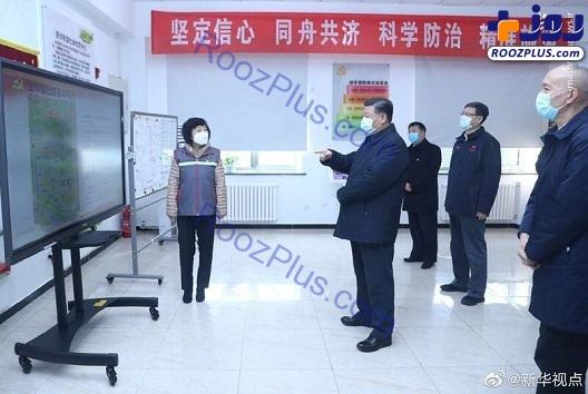 تست کرونا از رئیس جمهور چین +عکس