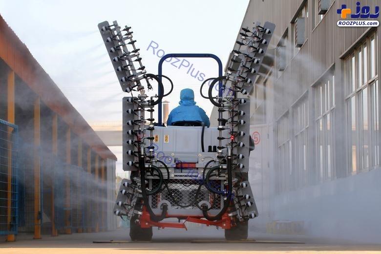 ماشینهای ضدعفونی کننده علیه ویروس کرونا در چین+عکس