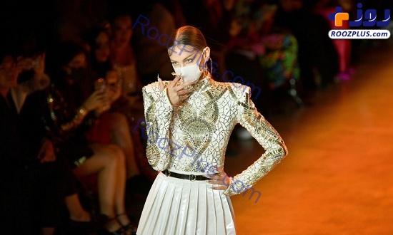 مدل های ماسک زده در هفته مد نیویورک+عکس