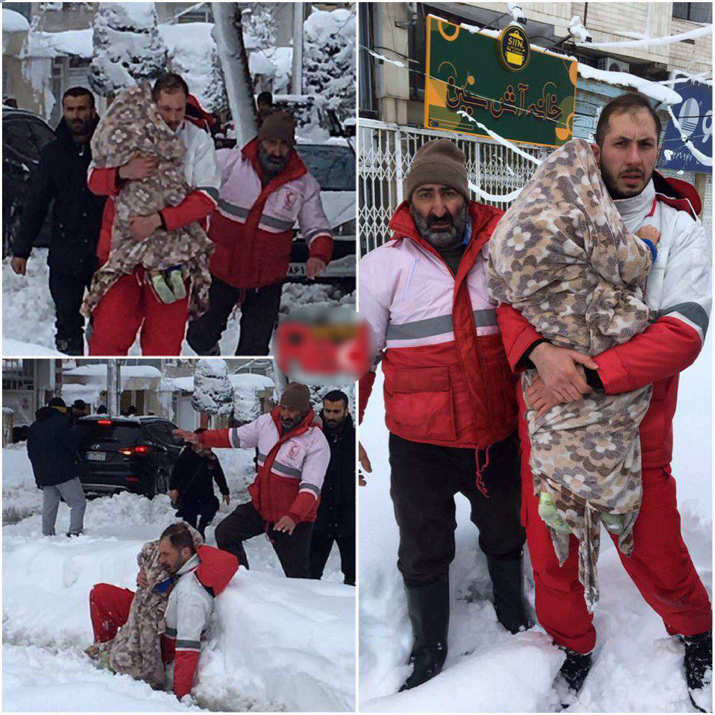 نجات کودک ۳ ساله بیمار توسط نیروهای امداد لاهیجان + عکس