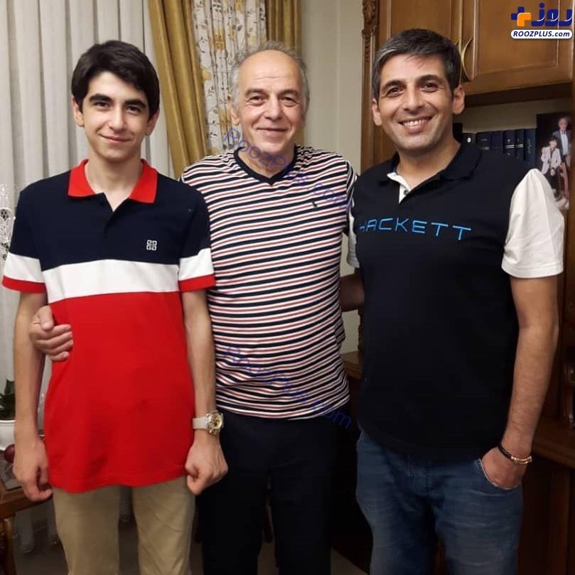حمید گودرزی در کنار پدر و برادرش+عکس
