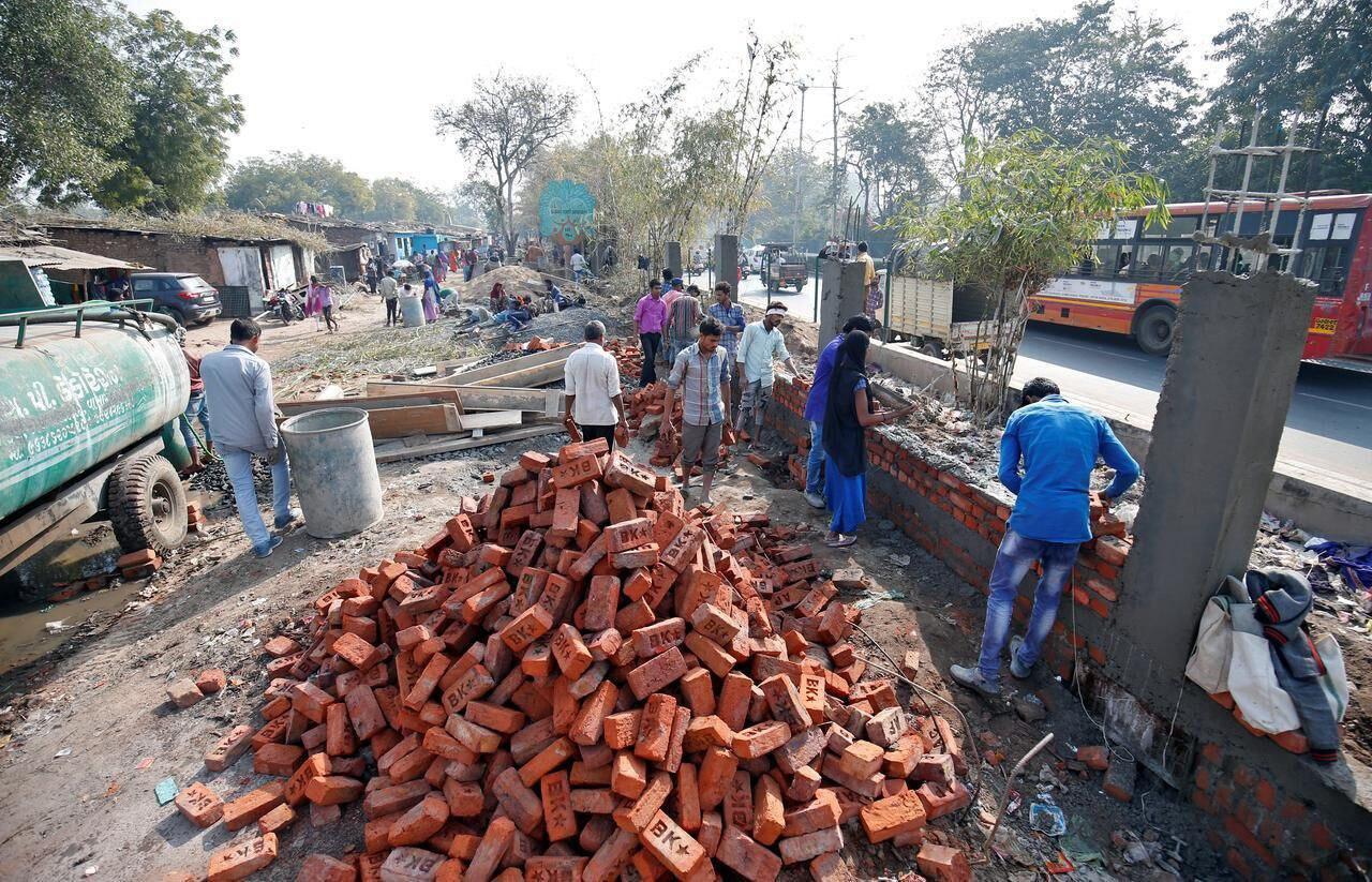 احداث دیوار در هند بخاطر ترامپ +عکس